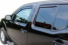 Wind deflectors for Nissan NAVARA D40 4 door 2005-2015  4pc set TINTED HEKO