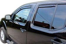 DNI24243 Nissan NAVARA D40 4 door 2005-2015 wind deflectors 4pc set TINTED HEKO