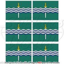 "PETERBOROUGH Flag Ontario Canada Mobile Cell Phone Mini Decals Stickers, 1.6"" x6"