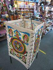 Handmade Nepalese Lokta Paper Lantern Painted Colourful Mandala Buddhist