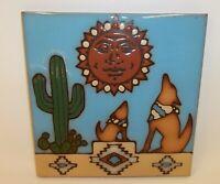 Vintage Art Tile Trivet Wall Decor - The Serenading Coyotes