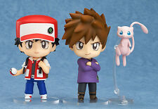 Pokemon trainer Red Green Mew 612# change face Nendoroid Action Figure Toy anime