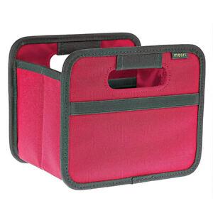 (2) Meori Mini Foldable High Grade Tear-Proof Storage Flat Boxes, (PINK BERRY)