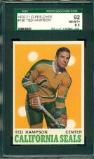 1970 O-PEE-CHEE OPC HOCKEY TED HAMPSON #190 SEALS SGC 92 NM-MT+
