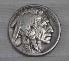 1924-S Buffalo Nickel Fine F Planchet Defects Lots Of Annealing