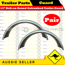Superior 13in Bolt-on Round Galvanized Trailer Mudguard (Pair)
