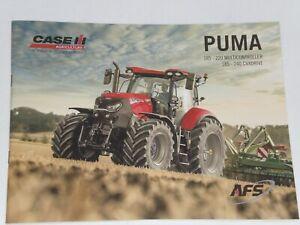 CASE IH PUMA 185-240 CVXDRIVE Traktoren Prospekt von 07/2021 ( Auktion 80 )