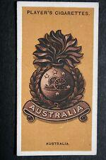 Australian Artillery  1914/18  World War 1  Cap Badge ## Vintage Card