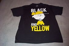 Charlie Brown Black And Yellow Peanuts T-Shirt Adult Large