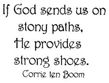 Unmounted Rubber Stamps, Christian Stamps, Corrie ten Boom Quote, Strong Shoes