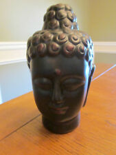 NEW BUDDAH HEAD FACE SPIRITUAL FIGURE STATUE TABLE TOP DECORATION IN OUTDOOR
