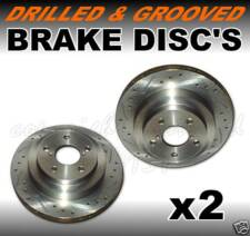 Drilled Grooved Front Brake Discs VAUXHALL CORSA B GSi Plastic