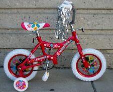 "12"" Girl's Pink Bike Training Wheels Foot Brake 3 to 5 Years Old"