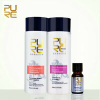 2x100ml PURC Brazilian Hair Straightening Keratin Treatment Shampoo+Argan Oi Kit