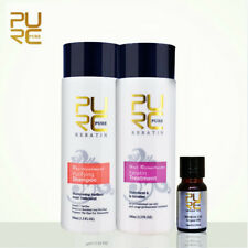 2x100ml PURC Brazilian Hair Straightening Keratin Treatment Shampoo+Argan Oi Kit