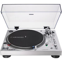 Audio-Technica Direct-Drive Turntable (Analog & USB) AT-LP120XUSB-SV (Silver)