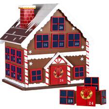 Calendario Avvento di Natale Casetta in Legno 24 Cassetti Decorazioni Natalizie