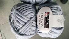 1 kg smc select HIGHLAND ALPACA Merino WOLLE 2926 Hellblau Jeansblau CHUNKY KNIT