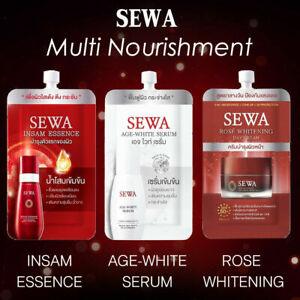 SEWA Insam Essence Age White Serum Rose Whitening Pore Minimizing Anti Aging Set