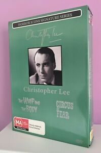 Christopher Lee Horror Icons Genuine Region 0 2 DVD Box Set The Whip & The Body