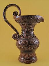 Ancien Pichet Broc Vase Céramique Contemporaine Vallauris signé Huguette Bessone