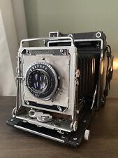New ListingGraflex Crown Graphic 4x5 Large Format Film Camera W/ Synchromatic Lens Untested