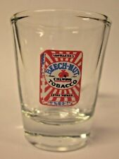 BEECHNUT CHEWING TOBACCO LOGO ON A CLEAR SHOT GLASS
