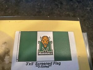 Rico Marshall Thundering Herd NCAA 11X14 Window Mount 2-Sided Car Flag