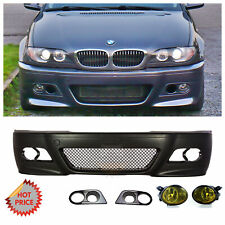 BMW E46 M3 STYLE FRONT BUMPER W/ AMBER FOG LIGHTS SPORTS COVERS 2000-2006 COUPES