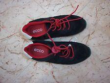 Childrens Ecco Azul Marino Cuero Zapatos Entrenadores EU Talla 30/UK