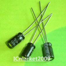 100 PCS 10uF/16V 4x7MM 105°C Radial Electrolytic Capacitors 16V 10uF
