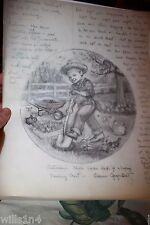 Original Illustrator Art Danbury Mint Plate Saturday's Child Elaine Gignilliat