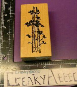 TALL TREE SCENE RUBBER STAMP ART IMPRESSIONS J3251 CREAKYATTIC