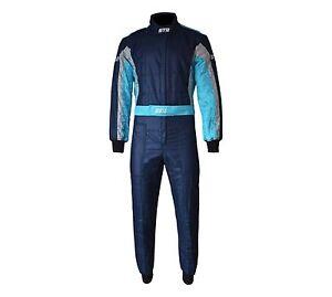 STR Club Race Suit Triple Layer FIA Approved 8856-2000 Blue/Light blue/Grey