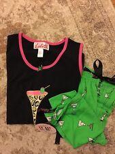 4NWT Lolita leopardtini women's Pajamas 2 pic set