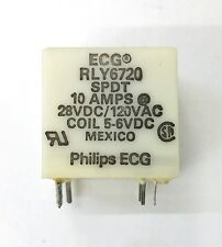NEW Philips ECG RLY6720 5 ~ 6 Volt DC Coil, SPDT P.C. Mount Relay 10A Contacts