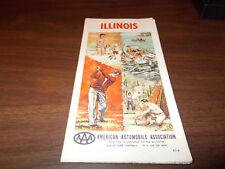 1963 AAA Illinois Vintage Road Map