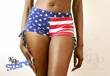 KenJeanne American Flag Stars and Stripes Shorts