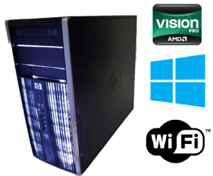HP Computer -Desktop Compaq Quad core AMD 3GHz 8GB RAM 500GB HDD WINDOWS 10 Pro