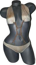 NEW SAUVAGE luxe designer monokini swimsuit macrame bikini M convertible sexy