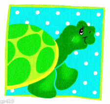"4.5"" Ocean turtle nursery wall safe fabric decal cut character"