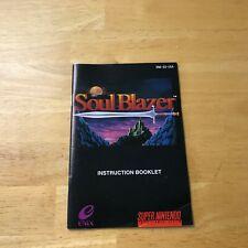 SNES Soul Blazer Manual Only Nice Shape!