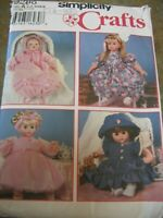 SIMPLICITY 9286 SEWING PATTERN DOLL CLOTHES DRESS GOWN HAT  3 DOLL SIZES