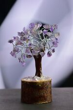 Luck & Money Tree Natural Gemstone Crystal Amethyst EMF Protection  Table Decor