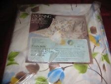Vintage Floral Twin Size Fitted Sheet Sears Nos Morning Glory Floral Shabby Chic