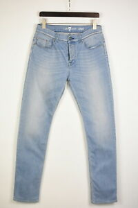7 FOR ALL MANKIND CHAD Men's W31 L33 Stretchy Slim Fit Blue Jeans 36819-GS