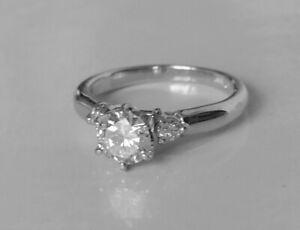 PLATINUM DIAMOND ENGAGEMENT RING 0.70 CT
