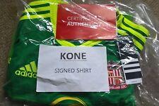 Sunderland AFC signed away shirt - Lamine Kone Mens Large - Cert of Authenticity