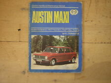 Austin Maxi Owner's Handbook/Maintenance Manual