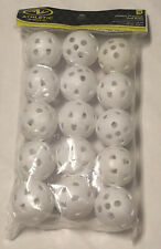 15 PC White Plastic Wiffle GOLF Balls Size Practice Flight STRONG PGA One Pack!